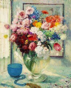 Still-life of Flowers, Fernand Toussaint