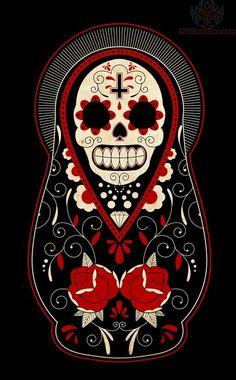 Dia De Los Muertos tattoo with the cross i want. id adjust some things but this might be my half sleeve Mexican Skulls, Mexican Art, La Santa Muerte Tattoo, Los Muertos Tattoo, Silkscreen, Sugar Skull Art, Sugar Skulls, Jasper Johns, Day Of The Dead Skull