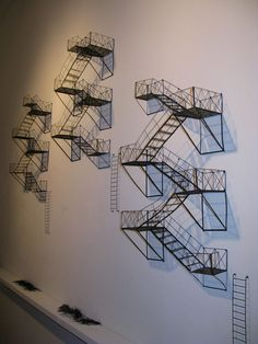 Love these staircase sculptures.