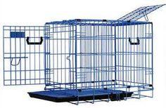 Pet Tek Dreamcrate Professional Series 200 2-Door Crate 24 Inch x 18 Inch x 20 Inch -Blue Pet Tek