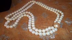 Vintage Double Strand Faux Pearl Choker with Rhinestone Clasp, Japan, 1950s