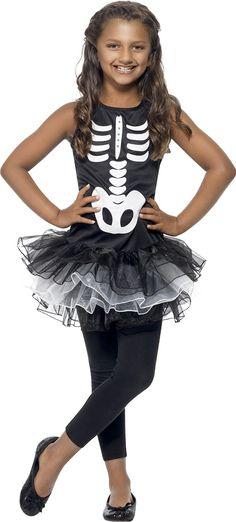 Smiffy's Skeleton Tutu Costume Printed Dress - Black and White, Small: Smiffys: Amazon.co.uk: Toys & Games