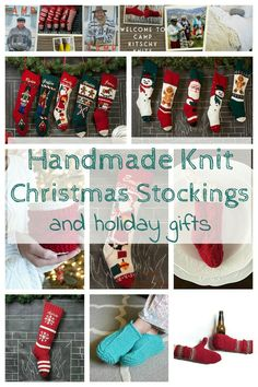 Handmade knit stockings and gifts for the holiday season
