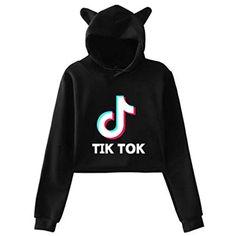 Tniy Mini-Cooper Car Logo Womens Hoodie Crop Top Pullover Sweatshirt with Cat Ears Hat Black