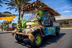 Tiki bar golf cart