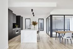 The Secrets of A Respected Art Deco Style Kitchen in the Renovation of the Newcastle House Revealed - homemisuwur Modern Kitchen Design, Interior Design Kitchen, Open Plan Kitchen Living Room, Kitchen Reno, Küchen Design, Inspired Homes, Home Renovation, Home Kitchens, Interior Architecture