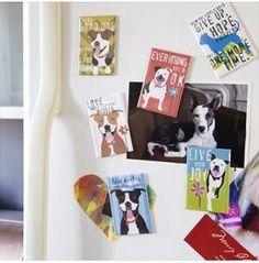 Set of Three Art Magnets, Dog Park Publishing