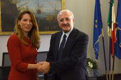 Il presidente della Regione Campania De Luca incontra l'ambasciatore di Malta in Italia Frazier | Report Campania