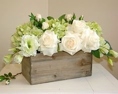 square planters for wedding arrangements babys breath | floral arrangement table top spring centerpieces wood box wood boxes ...