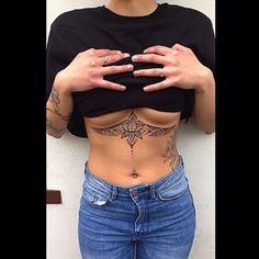 lotus under boob tattoo - Google Search