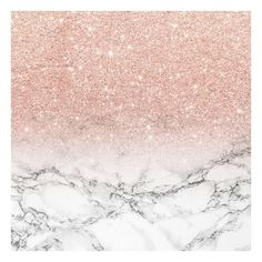 Modern faux rose pink glitter ombre white marble Art Print ❤ liked on Polyvore featuring home, home decor, wall art, backgrounds, images, pictures, mod home decor, modern wall art, rose home decor and rose wall art