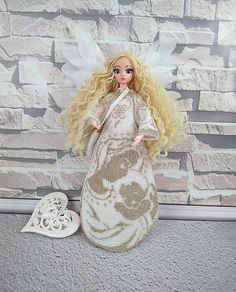 Interior doll handmade, Guardian Angel personalized doll, Girl confirmation giftAsk a question $240.00 Homemade Christmas Gifts, Homemade Gifts, Barbie Clothes, Barbie Dolls, Gifts For Girls, Gifts For Women, Short Hair Hacks, Best Baby Gifts, Confirmation Gifts