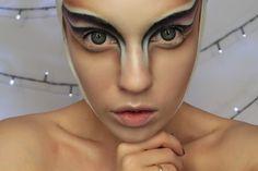 Halloween alien makeup https://red-mylips.blogspot.com/2017/09/alien-kosmiczna-charakteryzacja.html