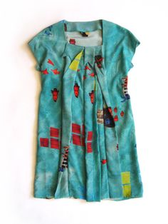 Image of Feral Childe Twisted Dress - Aqua