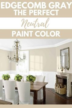 Indoor Paint Colors, Dining Room Paint Colors, Farmhouse Paint Colors, Kitchen Paint Colors, Living Room Paint, Neutral Kitchen Colors, Farmhouse Decor, Greige Paint Colors, Neutral Paint Colors