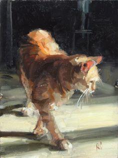 New cats painting oil fine art Ideas Oil Painting On Canvas, Painting & Drawing, Painting Trees, Watercolor Cat, Animal Paintings, Fine Art Paintings, Indian Paintings, Landscape Paintings, Cat Drawing