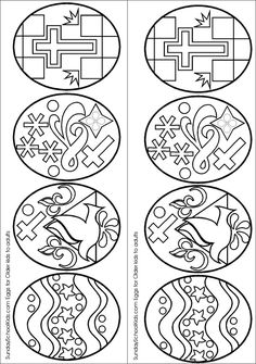 Coloring Page Of Easter Eggs