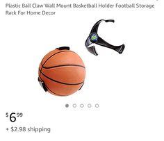 Storage Holders & Racks Responsible Home School Pc Material Ball Claw Wall Mount Basketball Football Holder Sports Organizer Supplies