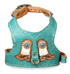 Custom Leather Dog Harness by RuffStuffDogCouture on Etsy,