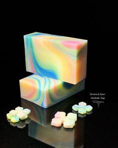 handmade soap, Spin Swirl technique, by sonnerie_du_savon