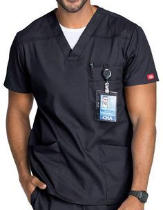 Cherokee chasseurs Green Hospital Scrubs TOP TUNIQUE 2 poches XS S M XL 2XL 3XL