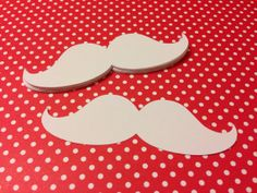 Mustache Die Cuts // Santa Mustaches 20 pieces by SunflowerPaperie, $3.00