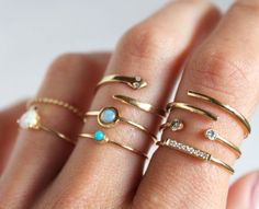 Stacking rings Cute and trendy  rings for woman http://www.justtrendygirls.com/cute-and-trendy-rings-for-woman/