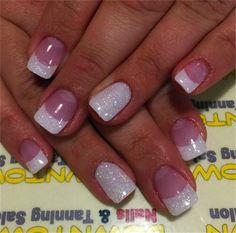 Home » Beauty »  30 Favorite Wedding Nail Design Ideas for Brides » Easy Wedding Nail Art Ideas for Short Nails