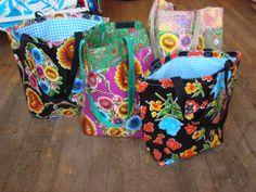 oilcloth bag | Oil Cloth Mexican Shopping Bags - LaMariposa Mexican Imports - Mexican ...