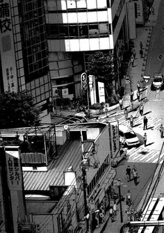 Oyasumi Punpun 66 - Read Oyasumi Punpun 66 Manga Scans Page 1 Free and No Registration required for Oyasumi Punpun 66 City Aesthetic, Aesthetic Themes, Aesthetic Anime, Aesthetic Pictures, Black Aesthetic Wallpaper, Black And White Wallpaper, Aesthetic Wallpapers, Cityscape Drawing, Arte 8 Bits