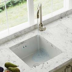 Astini Hampton 100 1.0 Bowl White Ceramic Undermount/Inset Kitchen Sink & Waste · $129.99 White Ceramic Kitchen Sink, Kitchen Sinks For Sale, Ceramic Undermount Sink, Single Bowl Sink, Gold Marble, Open Plan Kitchen, White Ceramics, The Hamptons