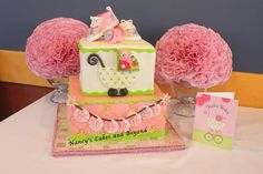 Baby Shower Cake with bling converse shoes and pacifier