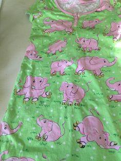 Nick & Nora Elephants Roller Skates Women Nightshirt Sleep Shirt S cotton #NickNora #Sleepshirt Night Shirts For Women, Nick And Nora, Sleep Shirt, Skates, Elephants, Online Price, Best Deals, Cotton, Elephant