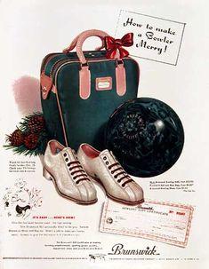 1951 Brunswick Bowling Ball Classic Vintage Print Ad
