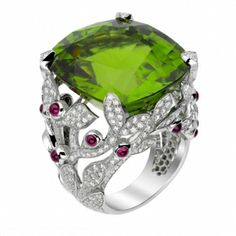 Van Cleef & Arpels-LOVE the ring band even more than the gem...how rare is THAT?!?