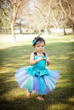 #BBB Peacock Tutu Outfit Costume Set by PoshBabyStore.com