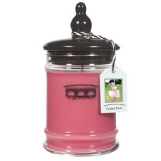 Tickled Pink Large Jar. Purchase a candle or wax bar and a portion is donated to Rice Bowls(tm), then Provided to orphans overseas.