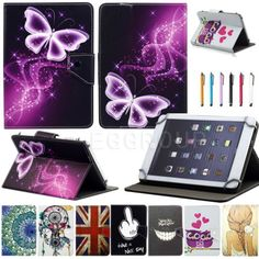 "New Patterns For 8"" 8.0 inch Tablets PC Universal Flip Leather Stand Case Cover"
