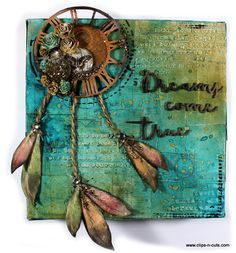 Clips-n-Cuts | Mixed media canvas – Dreams come true | http://www.clips-n-cuts.com