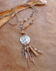 Opulent Ceremonial Talisman Statement Necklace by DesertTalismans