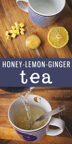 Honey-Lemon-Ginger tea is well known as weight loss tea. #WeightLossTea Fun Drinks, Yummy Drinks, Beverages, Weight Loss Tea, Lose Weight, Loosing Weight, Tea And Crumpets, Ginger Tea, Honey Lemon
