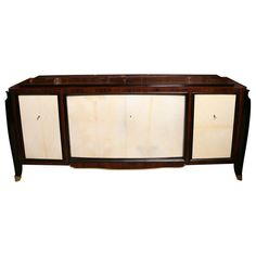 "French Art Deco Parchment / Palisander ""Rio""-  Buffet/ Sideboard"