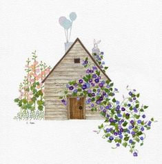 House Illustration, Office Art, Pictures To Draw, Painting Inspiration, Home Art, Watercolor Paintings, Art Drawings, Poster, Art Prints