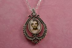 Audrey Hepburn Crystal Necklace Glass Cabochon by Gemsicles