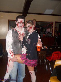 Zombie Couple Costume - Halloween Costume Contest via @costumeworks