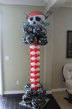 Pirate balloon column. Www.bogeysbouncers.com
