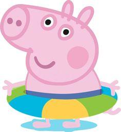 Divertidas imágenes de Peppa Pig con el agregado de personajes. Peppa Pig con detalles de Elsa y Anna (Frozen), vestido y moño de Minnie Mouse, etc. También su hermanito George Pig con el disfraz d…