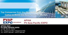 APVIA 2013 PV ASIA PACIFIC EXPO 싱가폴 태양광 산업전