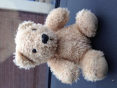 Found on 11 May. 2016 @ Unley Rd, Unley South Australia. This teddy bear is missing someone. I'll keep him safe until he is reclaimed. Visit: https://whiteboomerang.com/lostteddy/msg/ln4fp4 (Posted by Inger on 11 May. 2016)