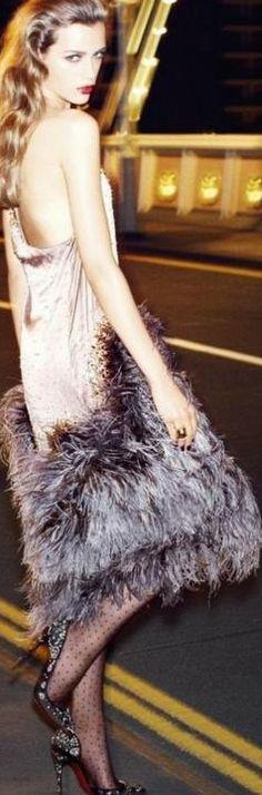 Feather fashion_ Esther Heesch for Vogue Turkey December 2013 ♥✤ | KeepSmiling | BeStayClassy